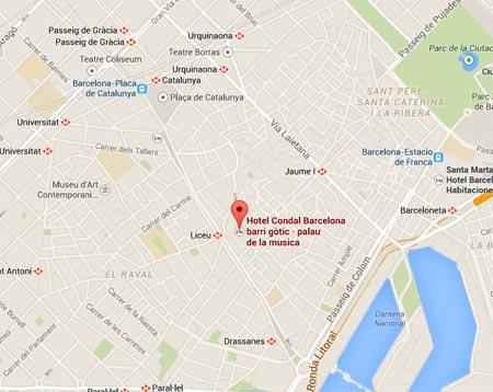 Hotel Condal - Mapa de ubicación