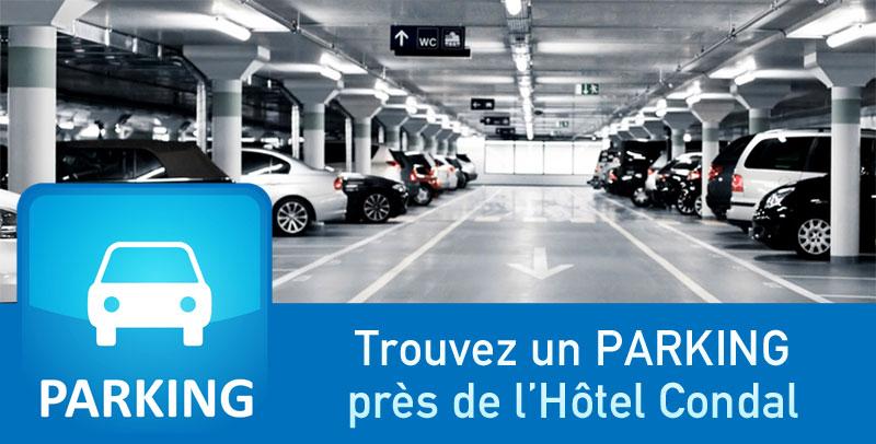 Trouvez un PARKING près de l'hôtel